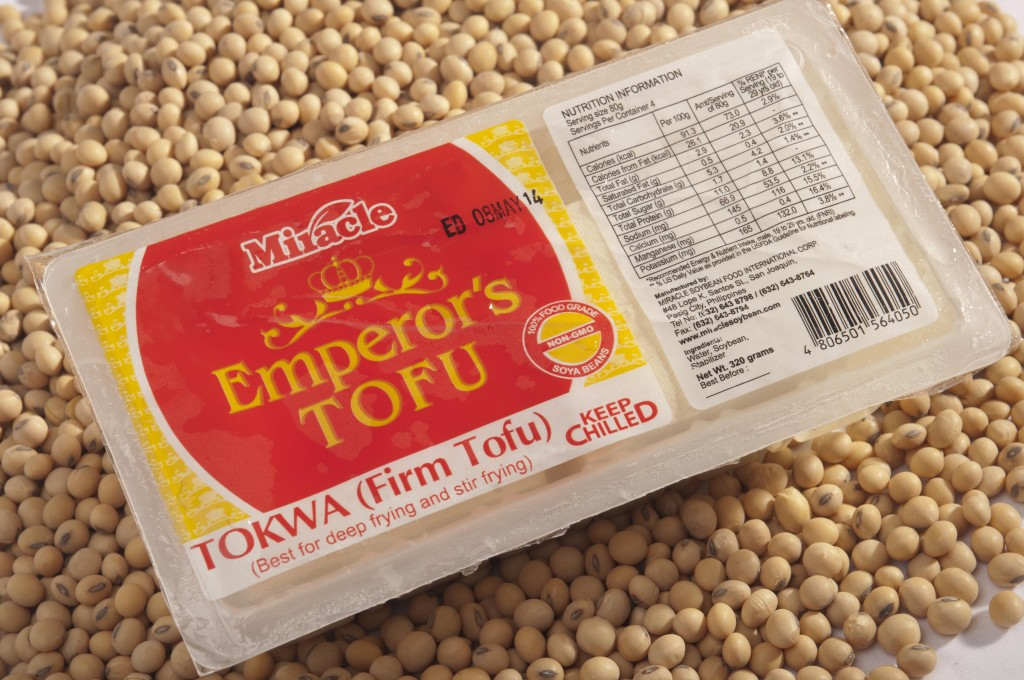 "Miracle Emperor's Tofu has the firm variant, which is thicker and can be diced up as an alternative to meat. This includes Tokwa (firm), for grilling or searing, baking, or as tofu steak and Toho (medium) for stir-fried dishes, entrees, deep frying, pan frying. Chef Jessie used the toho to create ""pasta"", grating and cooking it for the base of a Bolognese."