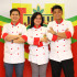 Winners of Jolly University Year 2 - From left, CJ Asiddao, Monique Siguenza, and Rian Cajiles