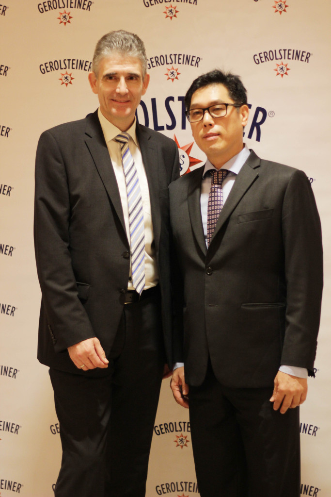 Dietmar Spille, Executive Vice President International of Gerolsteiner and Jun Cochanco, President of Fly Ace Corp.