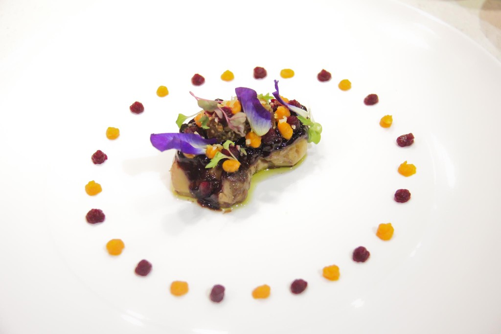 Pan Fried Duck Liver with Cocoa Grue
