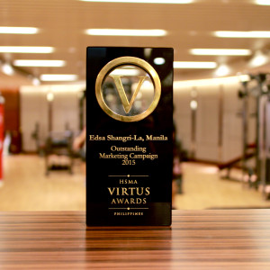 Edsa Shangri-La, Manila bags the prestigious Virtus Awards for the Most Outstanding Marketing Campaign of the Year.
