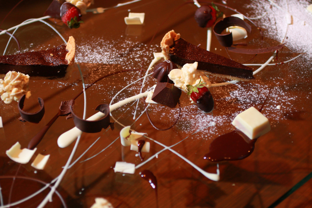 A chocolate lover's dessert buffet