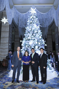 Makati Shangri-La's General Manager Alain Borgers, Shangri-La at The Fort, Manila's Director of Sales and Marketing Cecile Weber, Edsa Shangri-La, Manila's General Manager Amit Oberoi and Director of Sales and Marketing Mike Albana