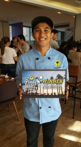 Grand winner : Pizza chef Hugo Pico