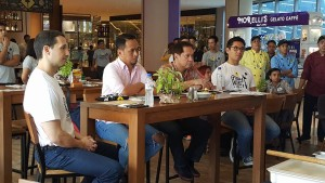 L-R: Mr. Archie Rodriguez, Chef Sau Del Rosario, Chef Sandy DAza and Mr. Griffith Go
