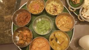 Palak Paneer, Chamma Masala, chicken Biryani,  Kerala Fish Curry, Dal Takda, Rara Ghosht
