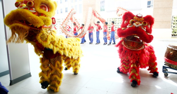 Ceremonial Lion and Dragon dance 1