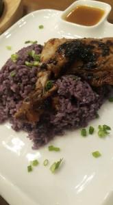 Dalandan Chicken and Ube Rice