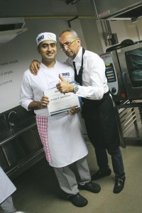 chef Michel with student