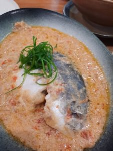 Pescado y Coco : Whole fish slow cooked in spicy coconut cream with tomatoes, ginger and chilies