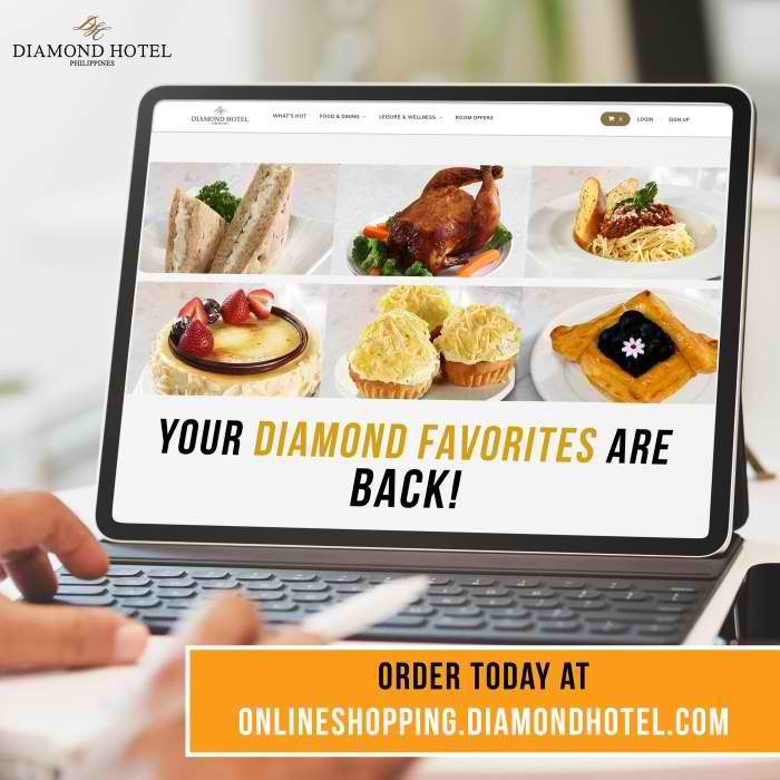Diamond Hotel Philippines Opens Online Shopping Site Dine Philippines